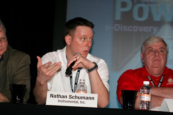 Nate Schumann fields a question