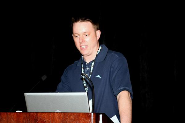 Nate Schumann from Instrumental presenting