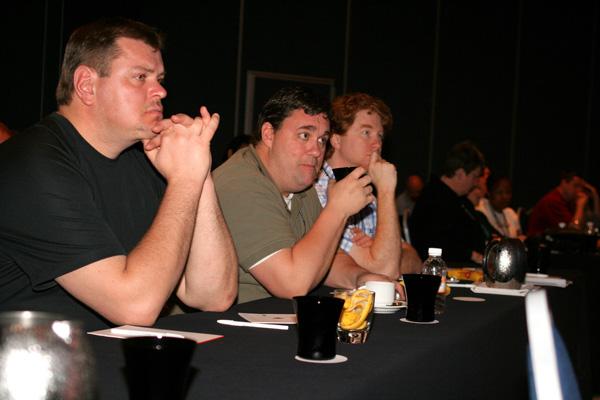 Attendees enjoying presentations